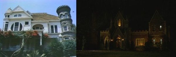 Two very different mansions.