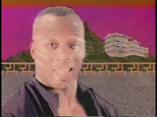 Billy Blanks, sparkling like Edward against a ridiculous digitized background